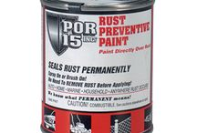 POR 15 / Rust preventative, Marine Clean, Chassis paint .... Help prevent decay! / by YEARONE Muscle Cars