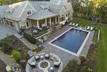 pool and yard / by hollywood housewife
