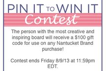Pin It to Win It: $100 Gift Code  / Nantucket Brand Pinterest Contest / by Nantucket Brand Clothing Co