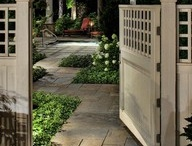 small fence ideas and side garden / by Georgette McAlister