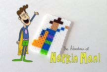 The Adventures of Napkin Man / Crafts and activities based on everyone's favourite emotionally aware napkin super hero!  / by CBC Parents + Kids' CBC