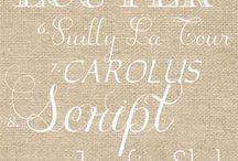 Fonts / by Deborah Stauffer