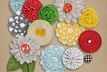 DIY Flowers for Scrapbooking / #Flowers - #Homemade, #Scrapbooking, #Crafts, #DIY Flowers, #Paper Flowers, #Felt Flowers, #Punched Flowers, #Fabric Flowers, #Ribbon Flowers  / by Penny