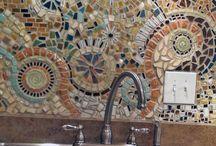 mosaics (for backsplash ideas) / by Gina Manygoats