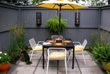 Matthew's courtyard makeover inspiration board / by Kelly Thompson