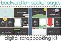 Kits: Backyard Fun Templates / SECRET WORD: BACKYARD (Scrapbooking GeoCache Challenge) at my blog www.jenwright.net / by Jen Wright