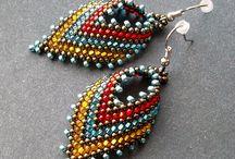 Beaded earrings / by Ellen DeAustin