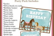 Pony Party Ideas / by Amber Ehlers