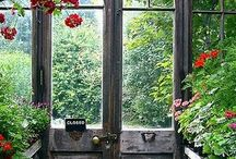 In The Garden ~ Potting Benches & Spaces / by ♥ Prim With Love ♥