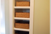 Shelves, table, and the like for storage! / by Leah Jensen