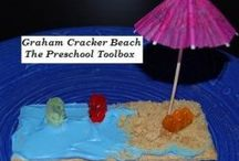 Beach Theme Activities for Preschool and Kindergarten / Literacy, Math, Science, Sensory, Arts and Crafts, Foods, and Play Ideas for a Beach Theme / by thepreschooltoolbox