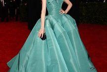 .Gowns: Greens, Blues, Violets / Blue, green, violet formal wear, women's fashion / by Grai Joseph