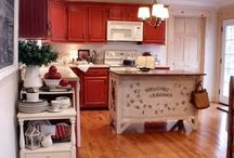 Kitchen Bath & Laundry / Ideas for rooms with sinks: kitchen, bathroom, and laundry room. / by Criss Tolliver