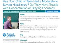 Head Injury (Concussion and Traumatic Brain Injury) News and Research Studies / Find information, news and clinical trials (or research studies) about head injury (like concussion, traumatic brain injury, etc.) from Cincinnati Children's. / by Cincinnati Children's Clinical Research Studies