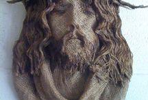 BURLAP JESUS / by Stacy Payne