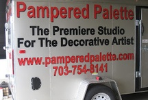 Promoting Decorative Painting / New Trailer Lettering.  Getting Ready for our Drive Across the Country to the SDP Conference. / by Pampered Palette