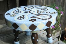 Painted furniture / Fun Painted furniture elegant but funky and customized. Upcycled / by HourGlassGirl Productions