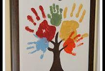 Hand print ideas / by Amandelyn Sorrell