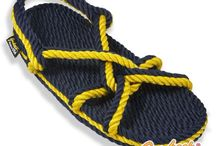 Team Spirit Multi Colors / Signature line of rope sandals in sports team colors / by Gurkee's Rope Sandals