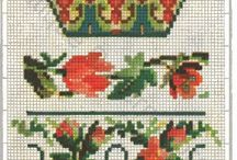Berlin Woolwork - Pelmets / Today we would call the larger designs curtain toppers. These designs were also used to decorate mantles and shelves.  / by Laura Jones