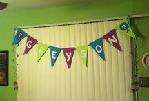 Greyson's 2nd Birthday: Monsters Inc theme  / by Tara Rowe