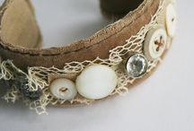 textile jewellery / by Jessamyn Sommers
