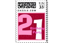 Birthday Parties - 21st Birthday Party! / See more at www.zazzle.com/jaclinart*/ and at www.zazzle.com/jaclinart_birthday* / by JaclinArt