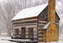 Log cabins. & Cottages / by Effie Smith