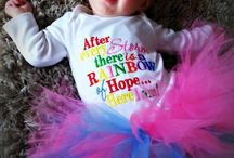 Onesies and T-Shirts / Custom embroidered and applique'd onesies / by Hibou T'Choux