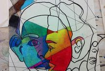 Picasso like portraits / by Mrs Tracy Evans