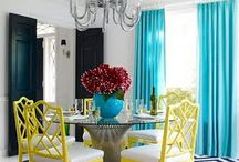 Look Book: Jonathan Adler Style / We love Jonathan Adler and so does Rayan from the blog: The Design Confidential: http://www.thedesignconfidential.com/ . We have teamed up to bring you a fresh Adler inspired look for your dining room!  Read more about Jonathan Adler on our blog: http://blog.homesav.com and see more Adler inspired living spaces here: http://waytoocoolinteriors.tumblr.com/ / by HomeSav