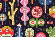 Art: Helen Dardik  / Ms. Dardik creates the most whimsical, bright patterns! / by Christi