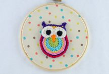 Embroidery Crochet Hoop Art  / by One and Two Company