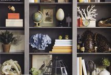 Decorating / Pillows, glass, books, table and bookshelf stylings, furniture.  / by Lisa Sullivan