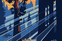 Vintage National Parks, Travel Posters & Signage / Beautiful Illustrations from the road traveling days of yesteryear.  / by Colin Harman