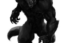 """Garou & kindred spirits / I've been loving werewolves (and wolves) since I was a toddler. My mother told me that one of my first words was """"wuff dog"""":) / by linda jones"""