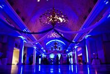 blue uplighting / by Superlative Events