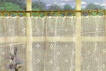 cortinas a crochet / Ana valverde tarafından