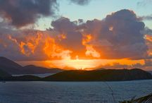 St John (US Virgin Islands) sunrises and sunsets  / St John (US Virgin Islands) has amazingly beautiful skies - whether the early morning sunrises or the evening sunsets - magical they are... / by St John - Great Expectations