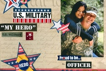 Military: Scrapbooking Layouts / by Lena Hall