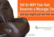 Giveaways! / Every now and then Human Touch holds giveaways on Facebook for massage chairs and foot & calf massagers! / by Human Touch
