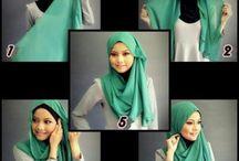 Hijab Tutorial / Shawl. Tutorial. Modesty / by Siti Nur Azlin