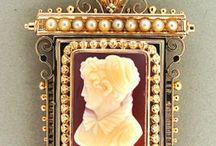 Cameo karma charma! / Lovely cameo jewelry / by Marilyn Spurlock