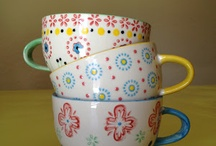 lovely cups (tea, coffee) / I'm a sucker for cute, simple, and creative cups. I love sipping my tea and coffee in style..hehe  / by stephanie
