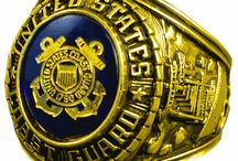 US Coast Guard Rings / Check out our vast collection of military rings at priorservice.com / by PriorService.com