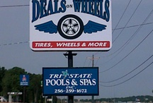 Deals on Wheels- Scottsboro, Al / Deals On Wheels offers full auto service and General Automotive Repair. Brakes, Tune-ups, Front End Alignment, AC Work and more. All major brands of tires and custom wheels. Deals On Wheels 23574 John T. Reid Parkway, Scottsboro, Al 256-259-1672. / by Infinity Marketing Services