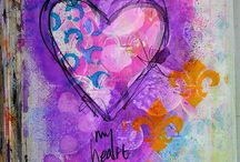 Cards-heart / by Linda Riedell