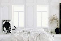 WHITE BEDROOMS / WHITE / by Michelle Eckhardt