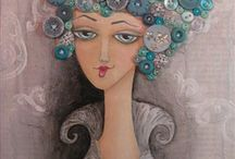 mixed media and art journals 1 / by Jasmin Pinnington
