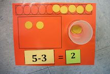1, 2, 3..... Addition to Division  / math activities that support developing concept and skills in addition/subtraction and multiplication/division / by Debbie @Country Fun Child Care